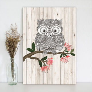 Plywood Rectangle: LW Morepork (Large)