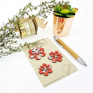 Mini Daisies - Red Floral