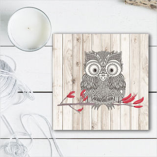 Plywood Art Block: LW Morepork
