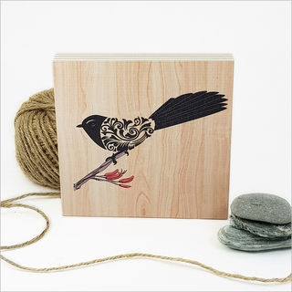 Plywood Art Block: Filigree Fantail