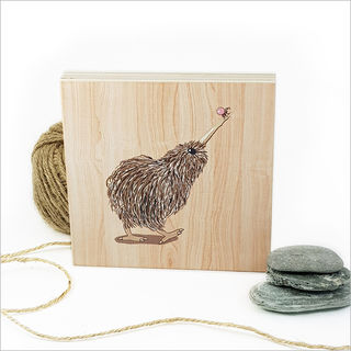 Plywood Art Block: Kiwi with Ant