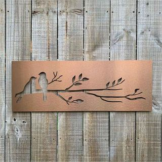 Large Panel Birds On Branch