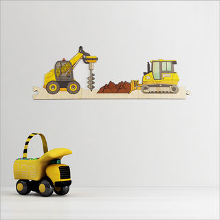 Pine Jigsaw strip: Construction Site 4