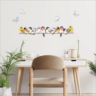 ACM Printed Birds on branch and butterflies set