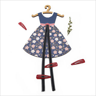 Hairclip Tidy : Cherry blossom Vintage Dress