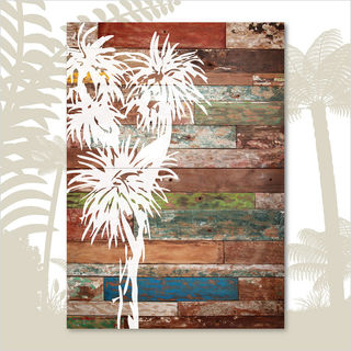 Plywood Rectangle: AT Cabbage Tree (Large)