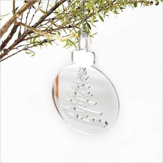 Mirror Acrylic Bauble : Xmas Tree