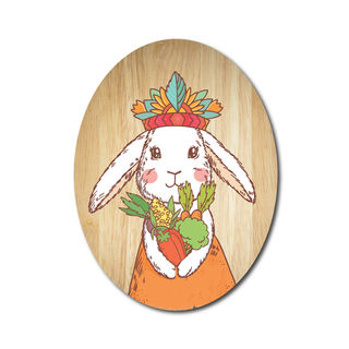 Ply Oval: Tribal Bunny princess