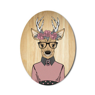 Ply Oval: Deer Girl