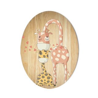 Ply Oval: Giraffe Family