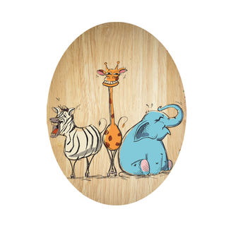 Ply Oval: Laughing Animals
