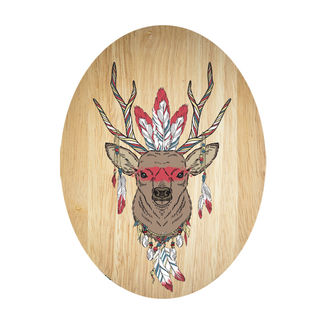 Ply Oval: Tribal Deer
