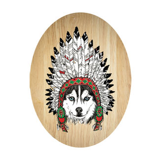 Ply Oval: Tribal Husky
