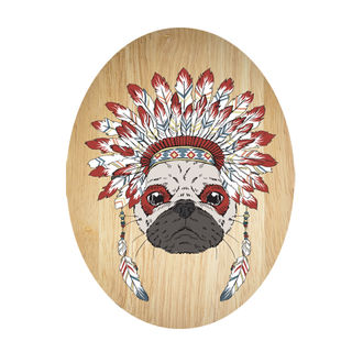Ply Oval: Tribal Pug