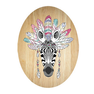 Ply Oval: Tribal Zebra