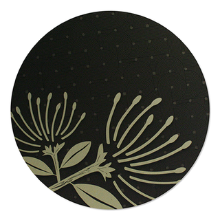 Printed ACM Gold Circle: Pohutukawa