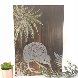 ACM Printed  Rectangle : Dark Wood Kiwi (Large)