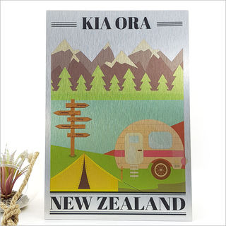 ACM Printed Rectangle : Kia Ora Kiwi Holiday (Large)