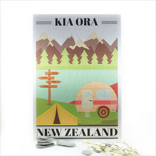 ACM Printed Rectangle : Kia Ora Kiwi Holiday (Small)