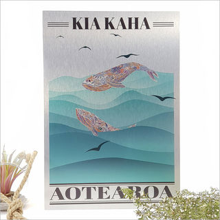 ACM Printed Rectangle : Kia Kaha Whale (Large)