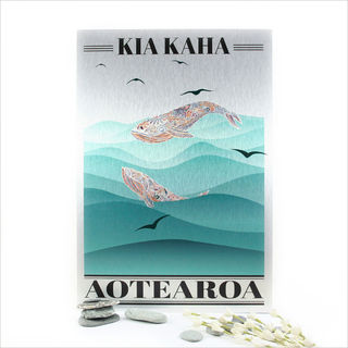 ACM Printed Rectangle : Kia Kaha Whale (Small)