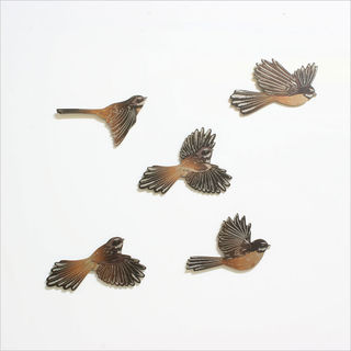 Printed ACM Birds Set: Fantails
