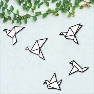 Printed ACM Birds Set: Origami Birds