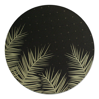 Printed ACM Brushed Circle: Palm Leaves