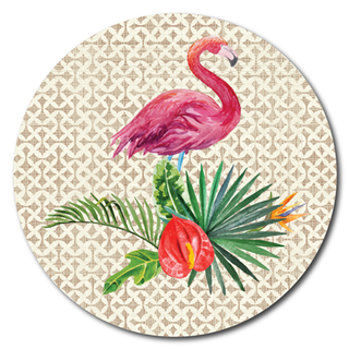 Printed ACM Circle: Flamingo