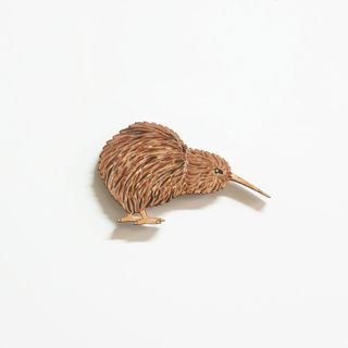 Printed Pine Mini: Kiwi looking down