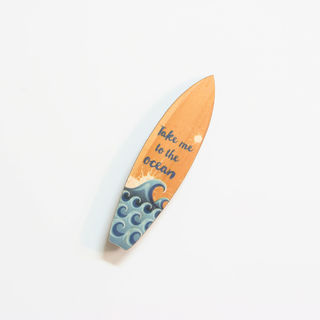 Printed Pine Mini: Ocean surfboard