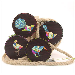 Coasters: Geometric Birds