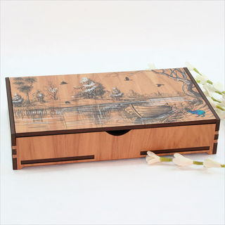 Large Rectangle Trinket Box : Lakeside