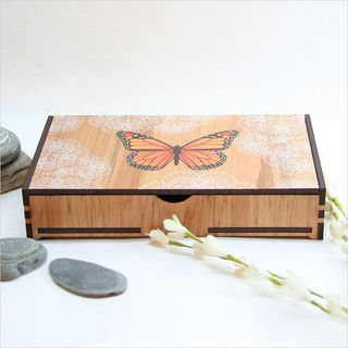 Large Rectangle Trinket Box : Monarch
