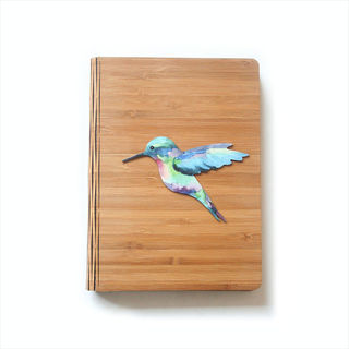 Bamboo Journal: Printed Humming Bird