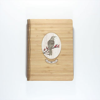 Bamboo Journal: Printed Light Wood Tui