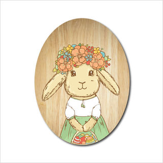 Ply Oval: Flower Bunny Princess