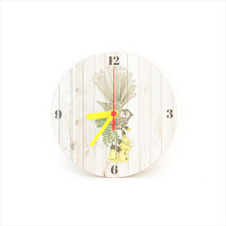 Clock : Fantail Light Wood Clock