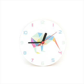 Clock :  Kiwi Geometric Clock White