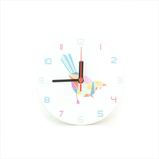 Clock: Tui Geometric White