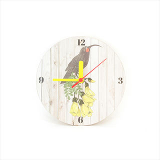 Clock: Huia Light Wood