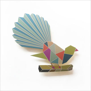 Printed ACM Geometric Birds : Fantail