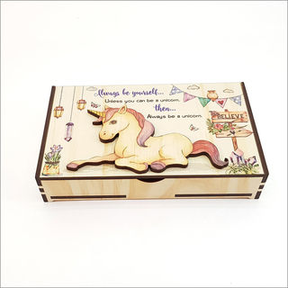 Large Trinket Box : Unicorn