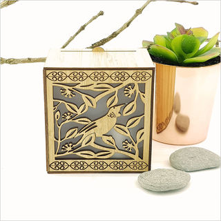LED Tealight Candle Box : Tui on Pohutukawa