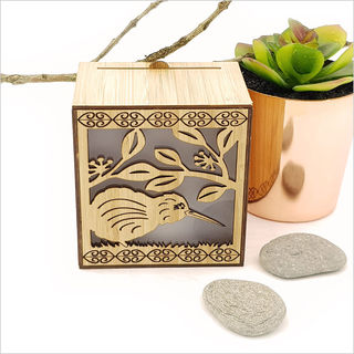 LED Tealight Candle Box : Kiwi on Pohutukawa