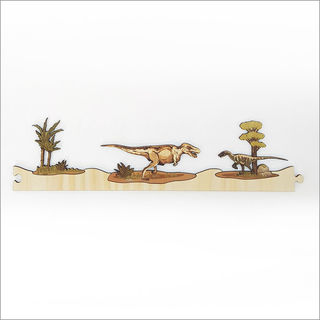 Pine Jigsaw strip: Dinosaurs Section 3