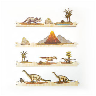 Pine Jigsaw strip: Dinosaurs Full Set