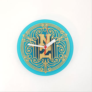 Clock: Deco NZ (Bamboo+Teal Acrylic)