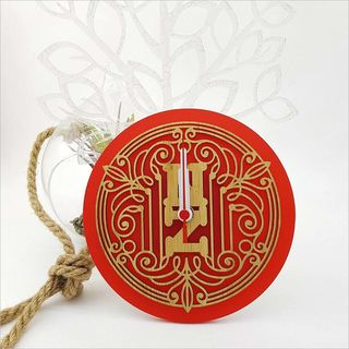 Clock: Deco NZ (Bamboo+Red Acrylic)