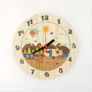 Clock: Kiwi Holiday (Pine)